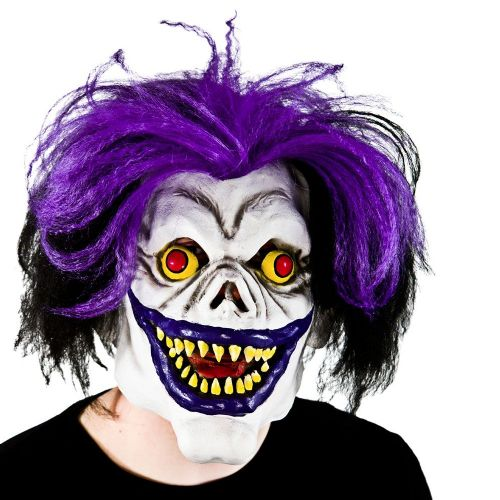 Adult Unisex Scary Big Mouth Clown Hair Mask for Disguise Fancy Dress